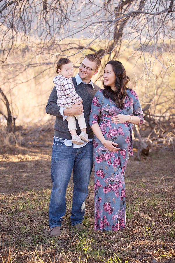 oro valley desert maternity photos