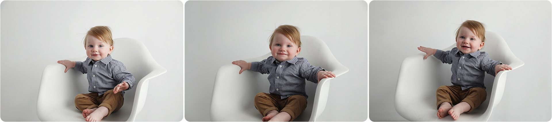 One Year Old poses for photographer